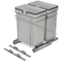 "15"" WASTE BIN - TWO 32 QUART - FITS 18"" BASE CABINET (SOLD SEPAR"