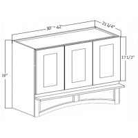 "GS-RHA303021 - 30"" WIDE CUSTOM RANGE HOOD BOX"