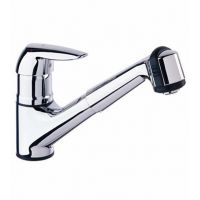 Eurodisc - Low Profile Pull Out Faucet with Dual Spray - chrome